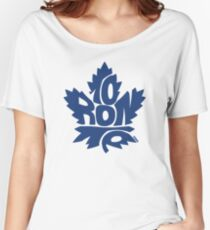 Toronto Maple Leafs blue Women's Relaxed Fit T-Shirt