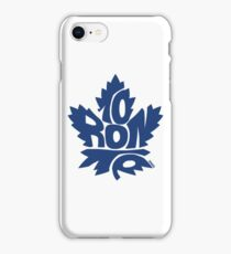 Toronto Maple Leafs blue iPhone Case/Skin