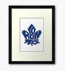 Toronto Maple Leafs blue Framed Print