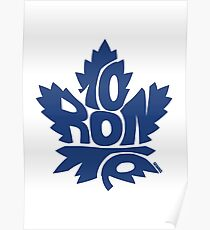 Toronto Maple Leafs blue Poster