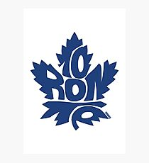Toronto Maple Leafs blue Photographic Print