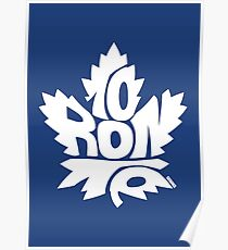Toronto Maple Leafs white Poster