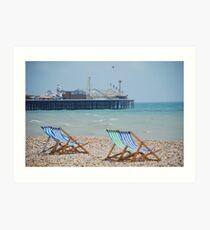 sit awhile and gaze to sea Art Print