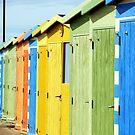 Seaside Beach Huts by Janis Read-Walters