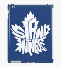 Toronto Maple Leafs Stand Witness White iPad Case/Skin