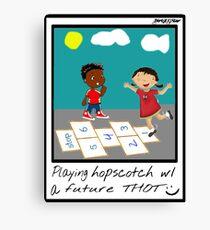 hopscotch wit a thot Canvas Print