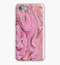 Marble texture. Ebru suminagashi technique. iPhone Case/Skin