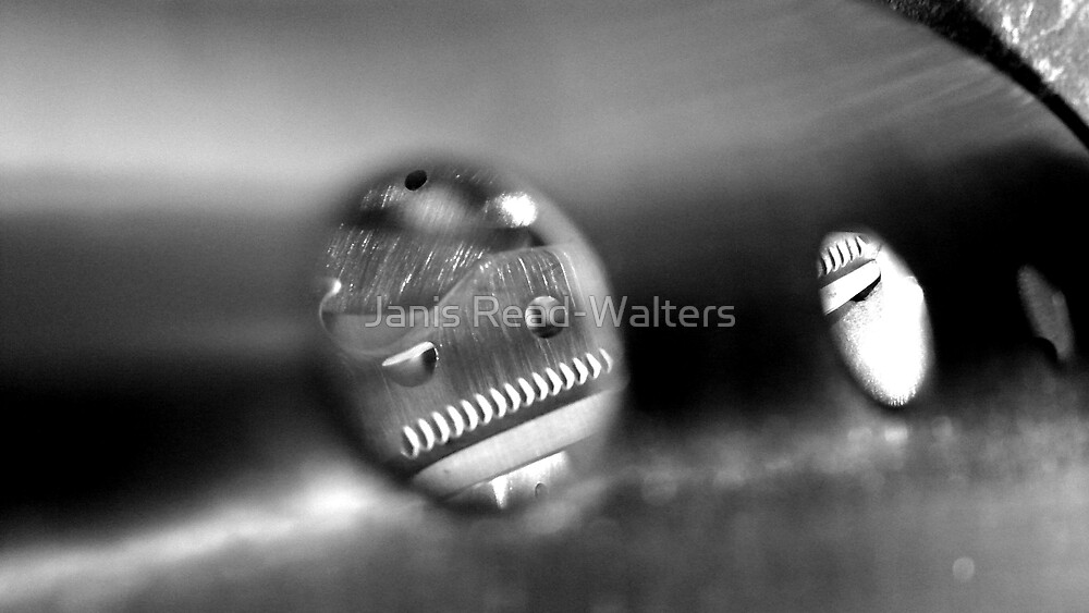 b & w abstract 1. by Janis Read-Walters