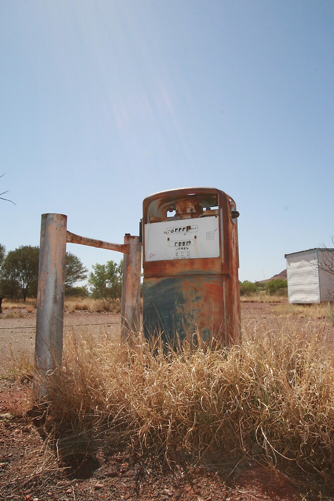 Petrol Pump, Wittenoom by Leigh Penfold