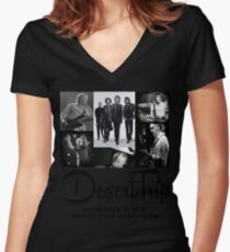 Desert Trip  Women's Fitted V-Neck T-Shirt