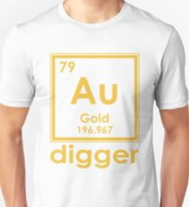 Gold Digger Au 196.967 Periodic Table Of Elements Design Unisex T-Shirt