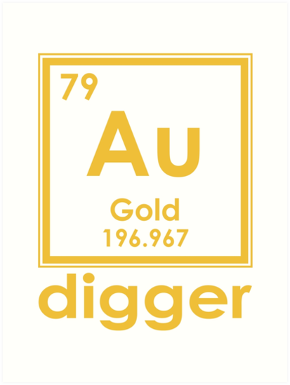 Gold digger au 196967 periodic table of elements design art prints gold digger au 196967 periodic table of elements design by nvalleydesign urtaz Images