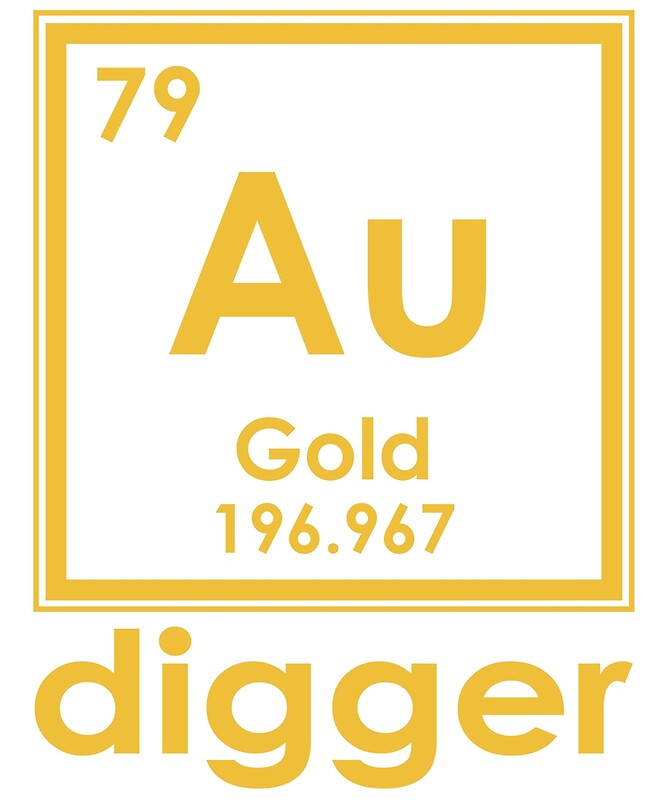 Gold digger au 196967 periodic table of elements design posters gold digger au 196967 periodic table of elements design by nvalleydesign urtaz Image collections