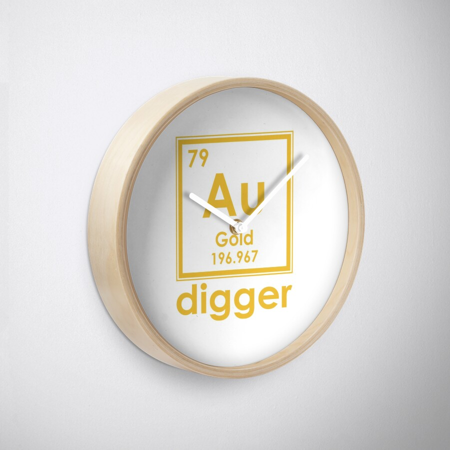 Gold digger au 196967 periodic table of elements design clocks gold digger au 196967 periodic table of elements design urtaz Gallery
