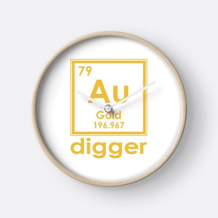 Gold digger au 196967 periodic table of elements design clocks gold digger au 196967 periodic table of elements design by nvalleydesign urtaz Gallery