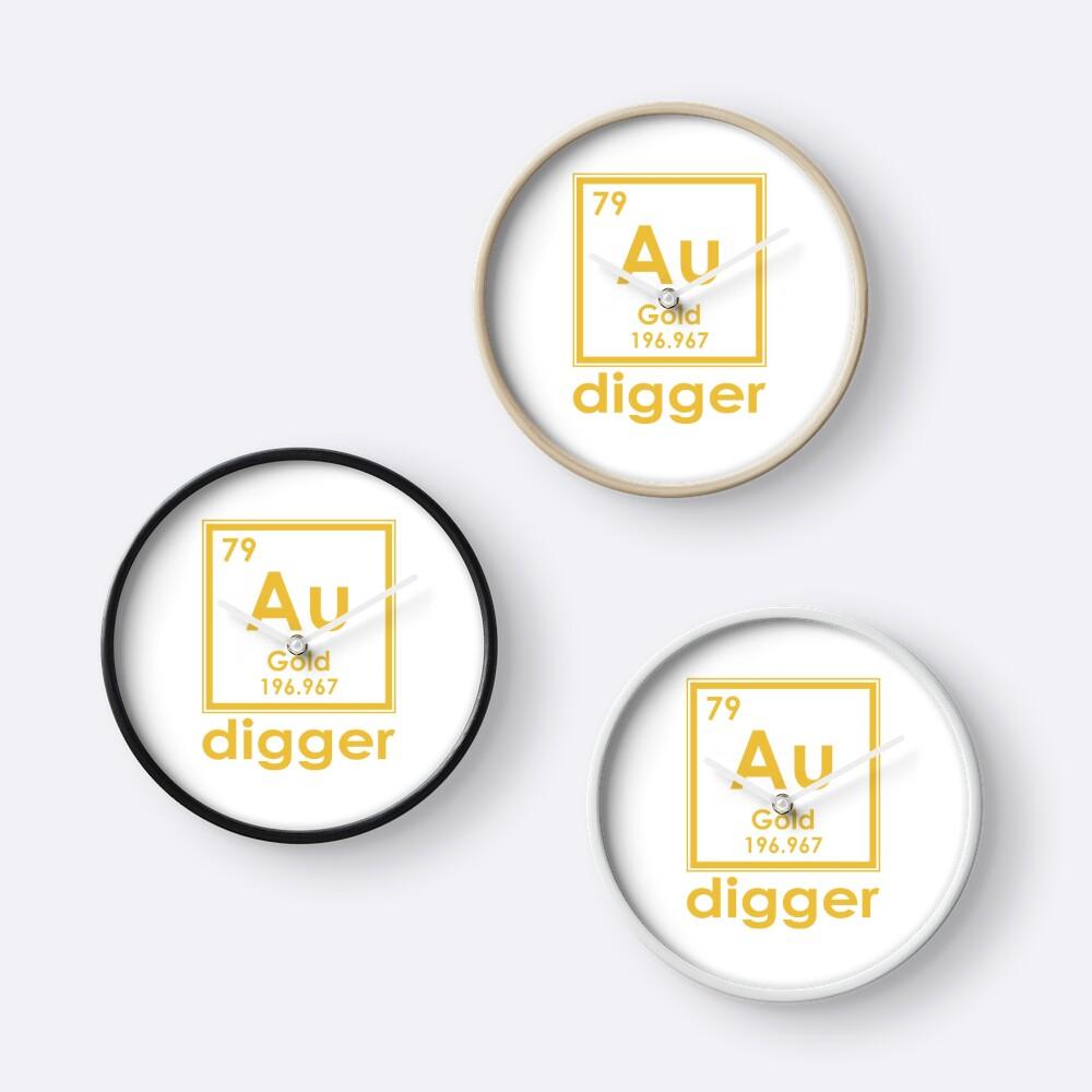 Gold digger au 196967 periodic table of elements design clocks by gold digger au 196967 periodic table of elements design urtaz Choice Image