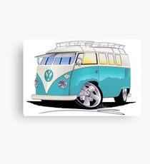 VW Splitty (Custom Blue) Camper Van Canvas Print