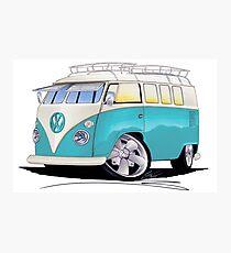 VW Splitty (Custom Blue) Camper Van Photographic Print