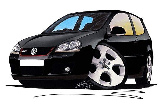 VW Golf GTi (Mk5) Black by yeomanscarart