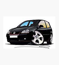 VW Golf GTi (Mk5) Black Photographic Print