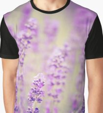 lavender background with flowers Graphic T-Shirt