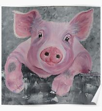 Miss Pinky Pig Poster