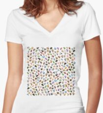 Bean Animals Women's Fitted V-Neck T-Shirt