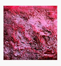 Red Abstract Salt Painting Photographic Print