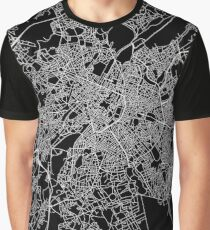 Brussels (Bruxelles) street network Graphic T-Shirt