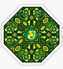 SCI - Retro Geometric - Mandala - String Cheese Incident - Festival - Funky Old School Sticker
