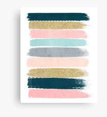 Zara - Modern abstract brushstroke painting for cute cell phone and trendy gifts Canvas Print