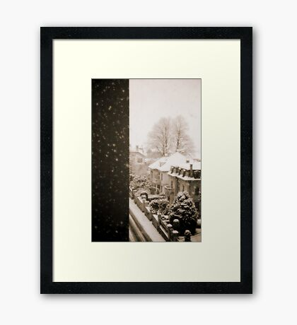 Snowy afternoon Framed Print