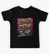 Wake Pray Slay (Sunrise Retro) Kids Clothes