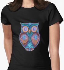 Owl 3 Women's Fitted T-Shirt