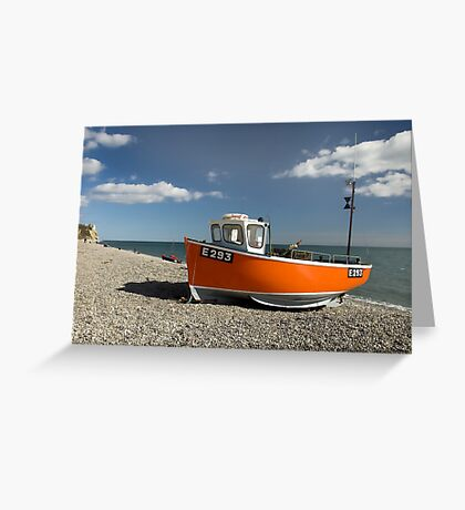 Branscombe Fishing Boat Greeting Card