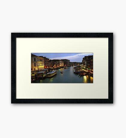 Venice Evening Traffic Framed Print