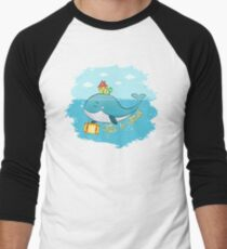 Whale. Time to travel Men's Baseball ¾ T-Shirt