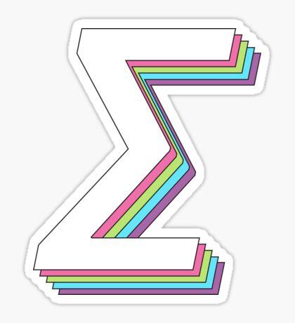 3D en capas 2.0 - sigma Pegatina