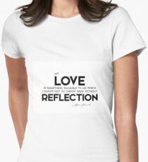 Camiseta entallada mi amor, reflejo - sigmund freud