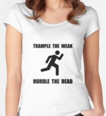Trample Hurdle Women's Fitted Scoop T-Shirt