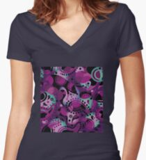 Cucumber abstract. Women's Fitted V-Neck T-Shirt