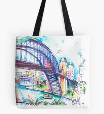 Sydney Harbour Bridge and boats Tote Bag