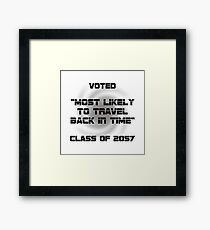 Voted Time Travel Framed Print