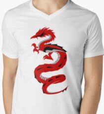 Red Dragon Men's V-Neck T-Shirt