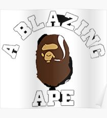Blazing ape Poster