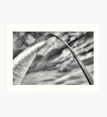 The Gateway Arch of Saint Louis Missouri - Black White Art Print