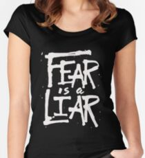 Fear is a Liar - Inspirational Christian Women's Fitted Scoop T-Shirt