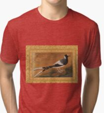 """Spotted Forktail"", Folio from the Shah Jahan Album Painting by Abu'l Hasan Tri-blend T-Shirt"