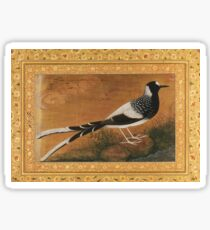 """""""Spotted Forktail"""", Folio from the Shah Jahan Album Painting by Abu'l Hasan Sticker"""