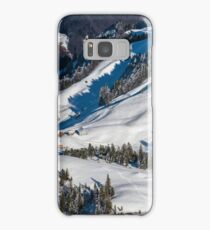 Beautiful winter weather on ski resort in high mountains, Switzerland Samsung Galaxy Case/Skin